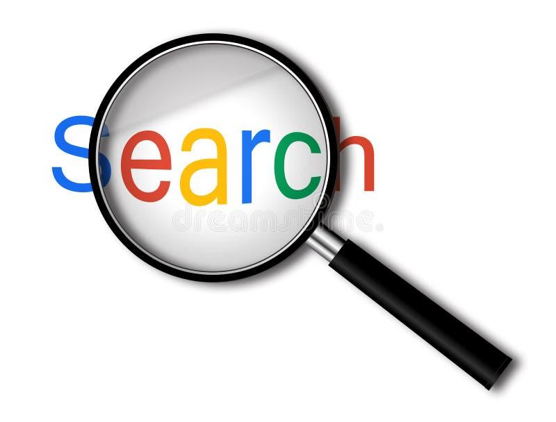 Ενίσχυση - γυαλί με την αναζήτηση στοκ φωτογραφία με δικαίωμα ελεύθερης χρήσης