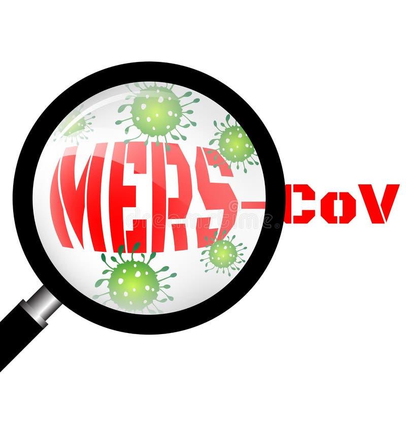 Ενίσχυση - γυαλί με τον ιό Mers ελεύθερη απεικόνιση δικαιώματος