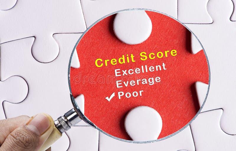 Ενίσχυση - γυαλί που εστιάζει στη φτωχή μορφή αξιολόγησης πιστωτικού αποτελέσματος στοκ φωτογραφίες με δικαίωμα ελεύθερης χρήσης