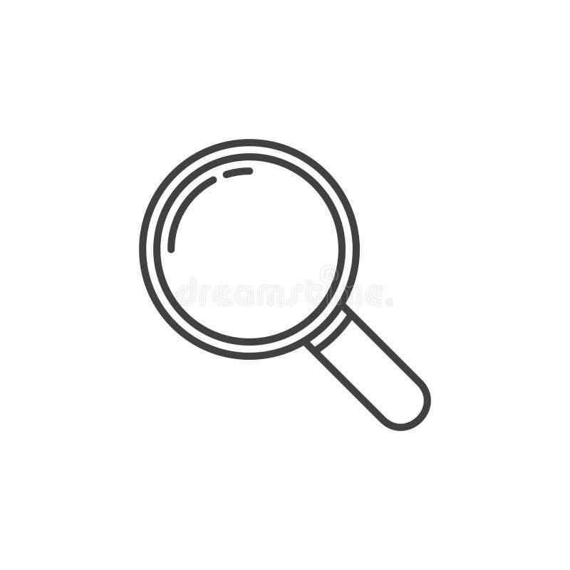 Ενίσχυση - εικονίδιο περιλήψεων γυαλιού Το διάνυσμα ενισχύει το σύμβολο διανυσματική απεικόνιση