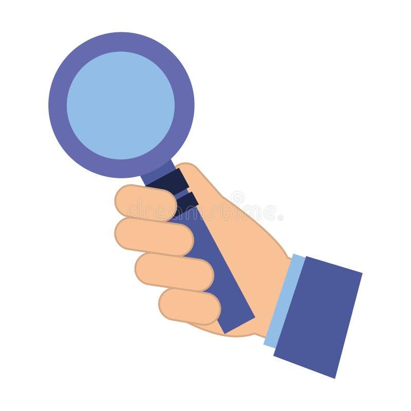 Ενίσχυση εκμετάλλευσης χεριών - κοινωνικά μέσα γυαλιού διανυσματική απεικόνιση