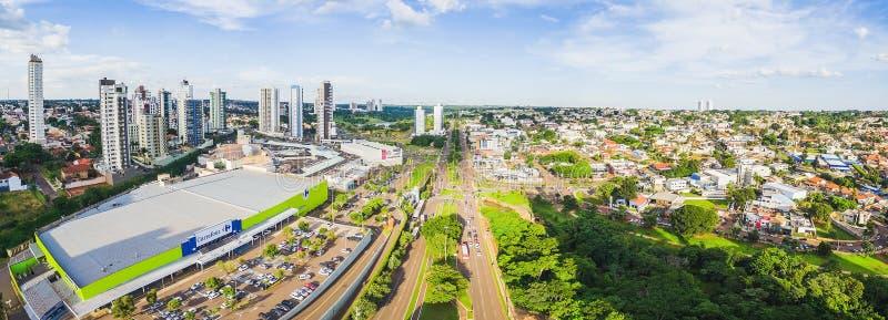 Εναέρια άποψη από τη λεωφόρο Afonso Pena προς το NA Parque DAS στοκ εικόνα
