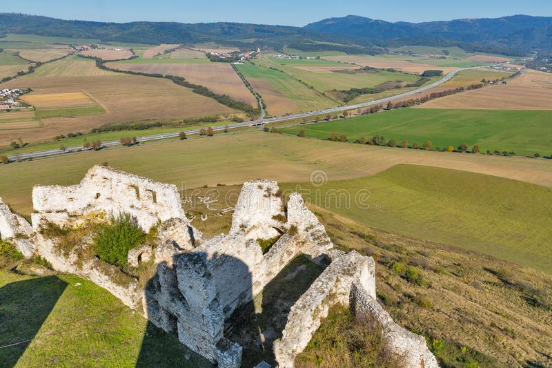 Εναέρια άποψη από Spis Castle, Σλοβακία στοκ φωτογραφία με δικαίωμα ελεύθερης χρήσης