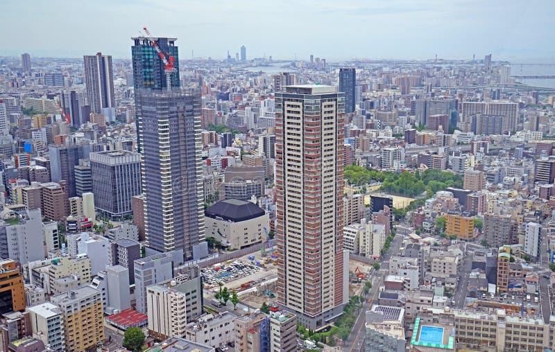 Εναέρια άποψη εικονικής παράστασης πόλης της Ιαπωνίας Τόκιο, εμπορικών και κατοικημένων κτηρίων στοκ φωτογραφία με δικαίωμα ελεύθερης χρήσης