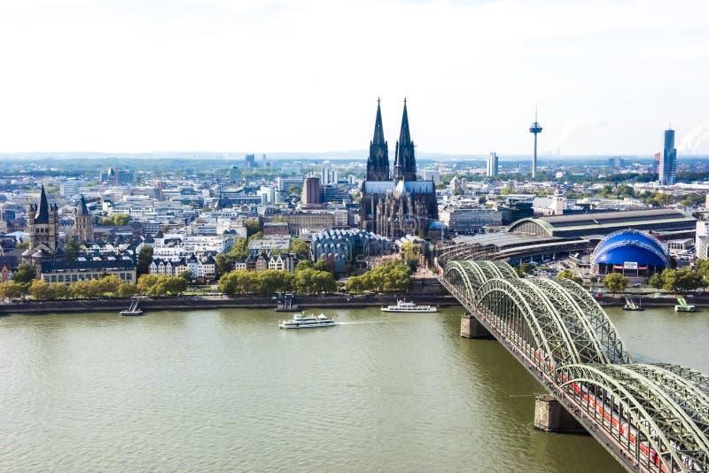 Εναέρια άποψη Κολωνία στοκ φωτογραφία με δικαίωμα ελεύθερης χρήσης