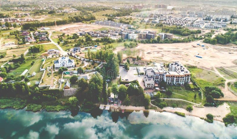 Εναέρια άποψη λιμνών στοκ φωτογραφία