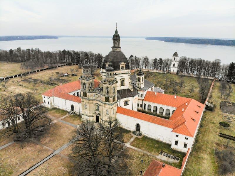 Εναέρια άποψη μοναστηριών Pazaislis σε Kaunas, Λιθουανία στοκ φωτογραφία με δικαίωμα ελεύθερης χρήσης