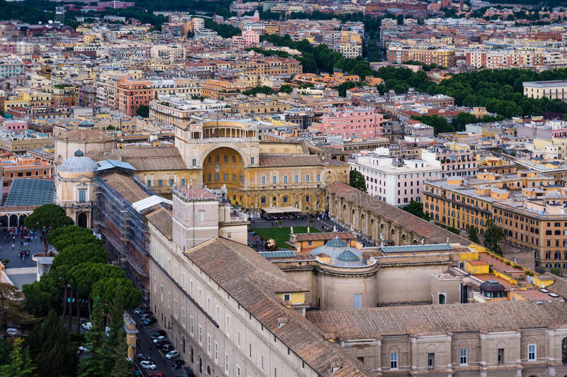 Εναέρια άποψη μουσείων Βατικάνου στοκ εικόνα με δικαίωμα ελεύθερης χρήσης