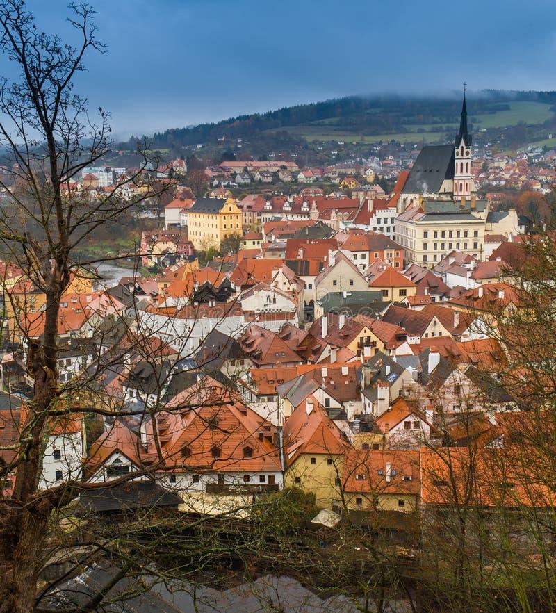 Εναέρια άποψη πέρα από την παλαιά πόλη στην Πράγα, Δημοκρατία της Τσεχίας στοκ εικόνες