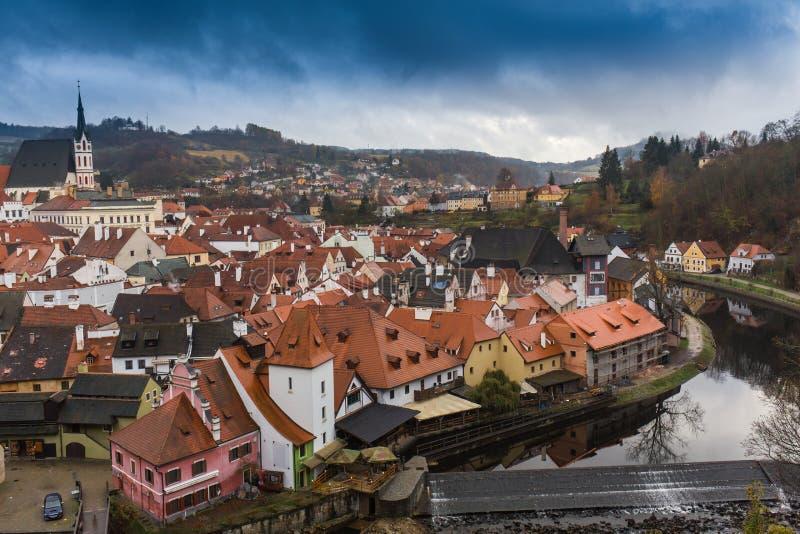 Εναέρια άποψη πέρα από την παλαιά πόλη στην Πράγα, Δημοκρατία της Τσεχίας στοκ εικόνα