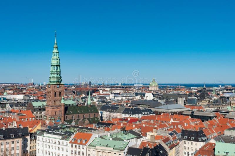 Εναέρια άποψη πέρα από την πόλη της Κοπεγχάγης στοκ εικόνες