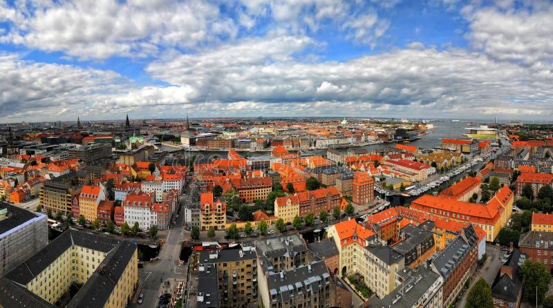 Εναέρια άποψη πανοράματος της Κοπεγχάγης, Δανία στοκ εικόνα