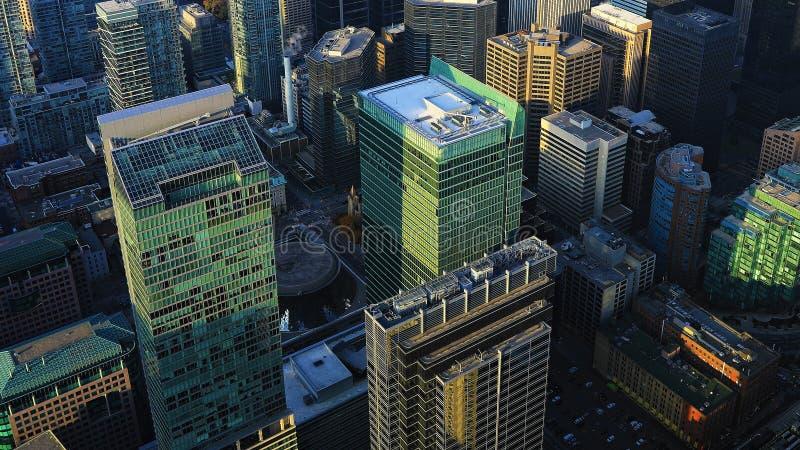 Εναέρια άποψη περιοχή του στο κέντρο της πόλης Τορόντου, Καναδάς στοκ φωτογραφίες με δικαίωμα ελεύθερης χρήσης