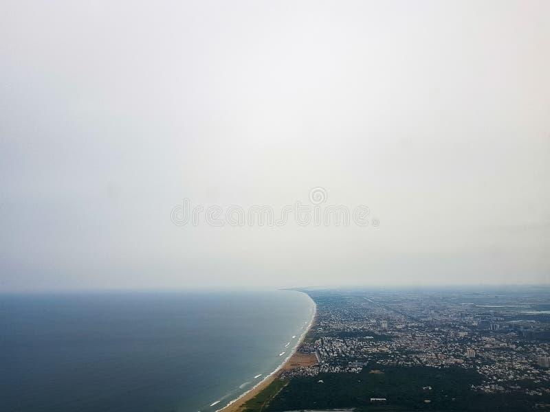 Εναέρια άποψη πόλεων Chennai στοκ φωτογραφία με δικαίωμα ελεύθερης χρήσης