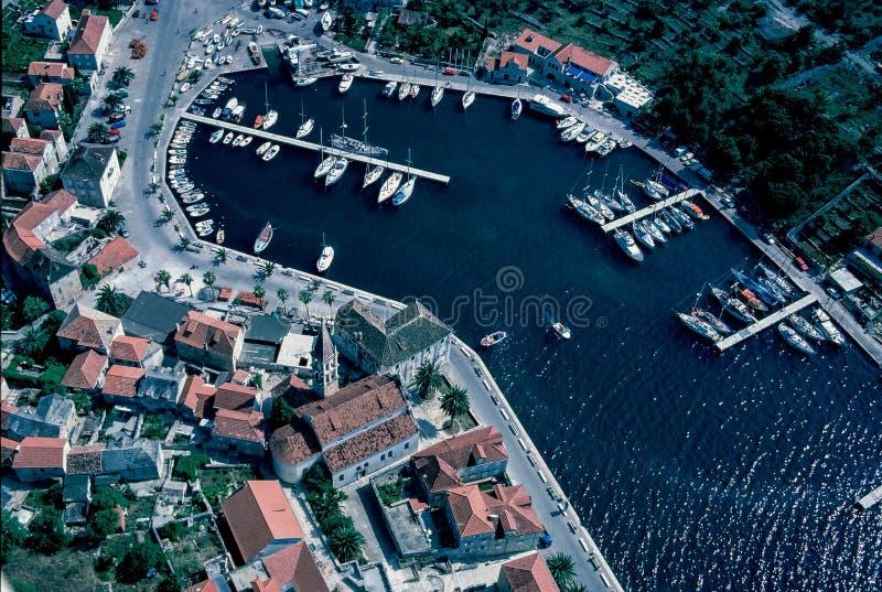 Εναέρια άποψη σε Milna, νησί Brac στοκ εικόνες με δικαίωμα ελεύθερης χρήσης
