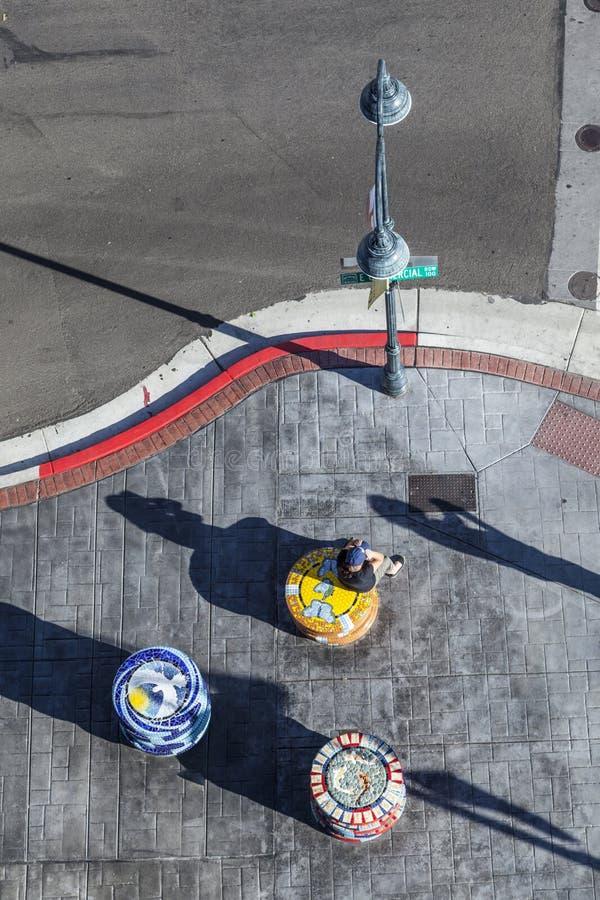 Εναέρια άποψη στο πέρασμα του υπόλοιπου κόσμου εμπορίου με τα WI εθνικών οδών του Carson Reno στοκ φωτογραφία με δικαίωμα ελεύθερης χρήσης