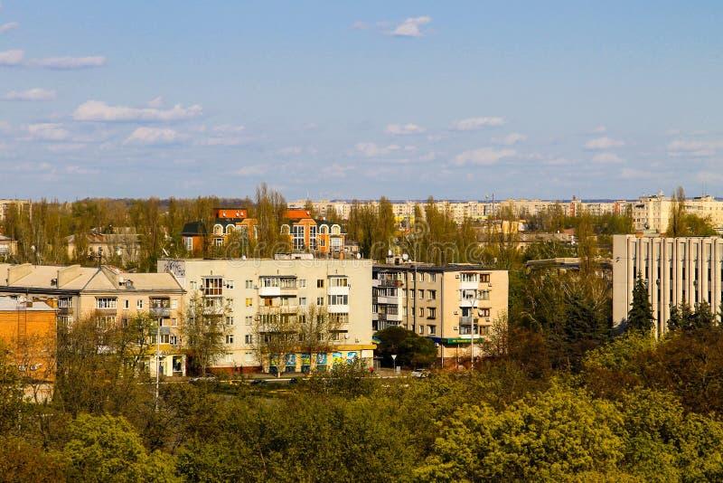 Εναέρια άποψη σχετικά με την πόλη Kremenchug στοκ εικόνα με δικαίωμα ελεύθερης χρήσης