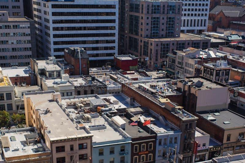 Εναέρια άποψη σχετικά με το Chinatown στο Σαν Φρανσίσκο, ΗΠΑ Το Σαν Φρανσίσκο ` s Chinatown είναι μια από τη Βόρεια Αμερική ` s μ στοκ εικόνες