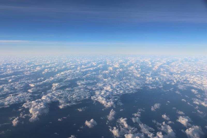Εναέρια άποψη σύννεφων στοκ φωτογραφίες