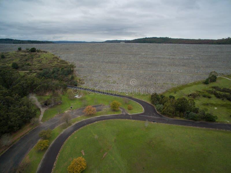 Εναέρια άποψη της λίμνης δεξαμενών Cardinia και των αγροτικών περιχώρων στοκ φωτογραφίες με δικαίωμα ελεύθερης χρήσης