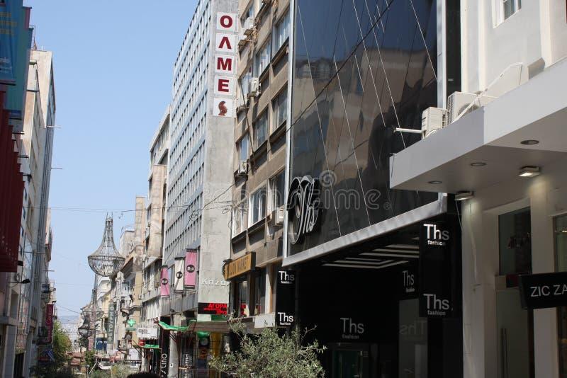 Εναέρια άποψη της Αθήνας, Ελλάδα στοκ φωτογραφίες με δικαίωμα ελεύθερης χρήσης