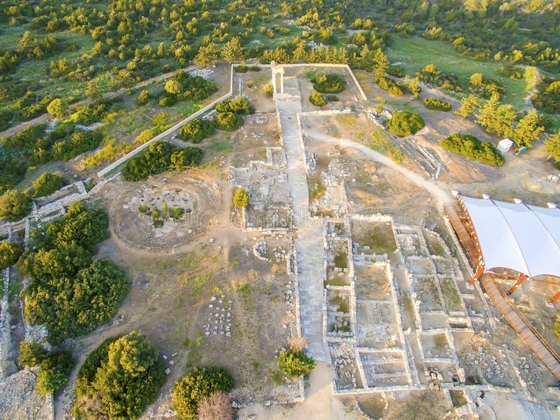 Εναέρια άποψη της αρχαίας περιοχής Apollonas Ilatis, Λεμεσός, Κύπρος στοκ εικόνες με δικαίωμα ελεύθερης χρήσης