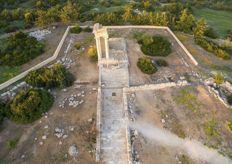 Εναέρια άποψη της αρχαίας περιοχής Apollonas Ilatis, Λεμεσός, Κύπρος στοκ φωτογραφία με δικαίωμα ελεύθερης χρήσης