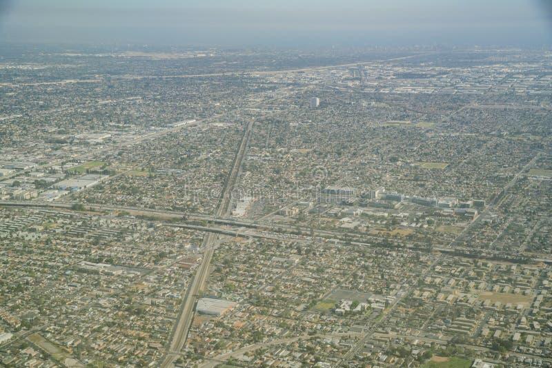 Εναέρια άποψη της αυτοκρατορικής περιοχής δικαστηρίων και Compton στοκ εικόνες