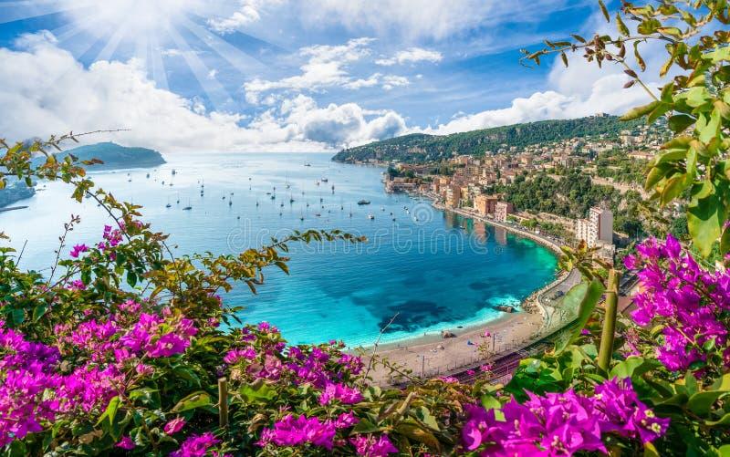 Εναέρια άποψη της γαλλικής ακτής Riviera στοκ φωτογραφίες με δικαίωμα ελεύθερης χρήσης