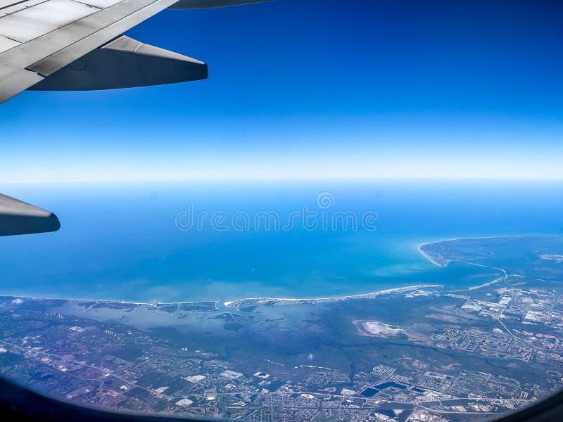 εναέρια άποψη της δυτικής ακτής της Φλώριδας στοκ εικόνες