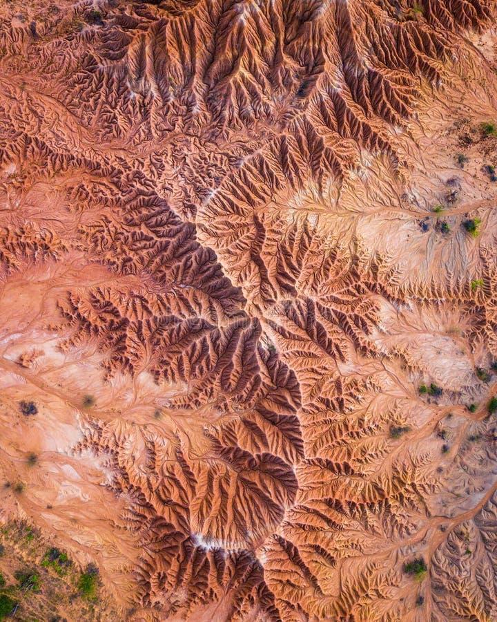 Εναέρια άποψη της καταπληκτικής και παράξενης ερήμου στοκ εικόνα με δικαίωμα ελεύθερης χρήσης
