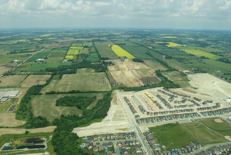 Εναέρια άποψη της κατοικήσιμης περιοχής κατασκευής στοκ εικόνες με δικαίωμα ελεύθερης χρήσης