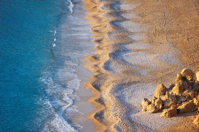 Εναέρια άποψη της κενής παραλίας Oludeniz στοκ φωτογραφίες με δικαίωμα ελεύθερης χρήσης