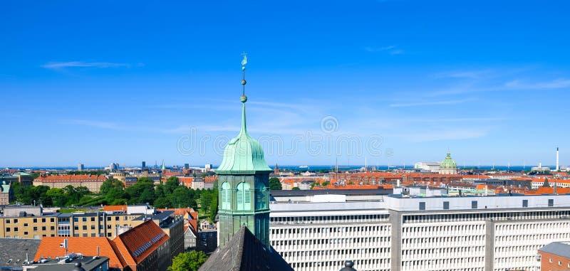Εναέρια άποψη της Κοπεγχάγης, Δανία στοκ εικόνες