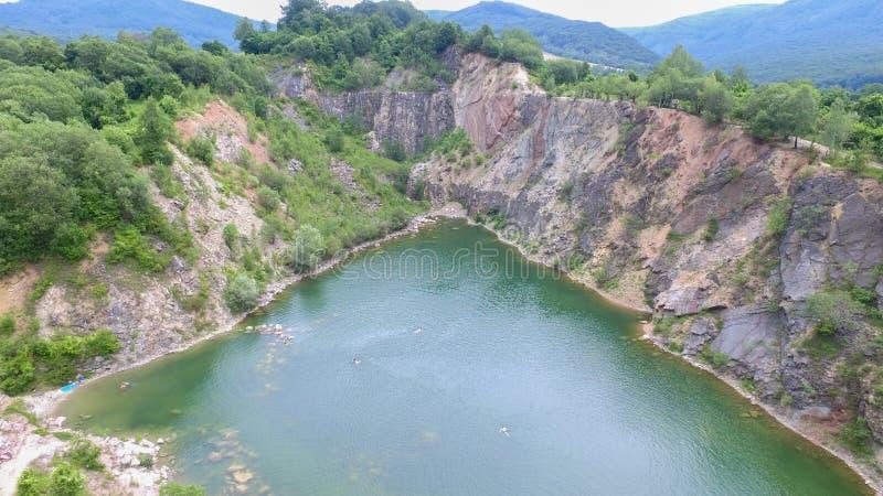 Εναέρια άποψη της λίμνης Benatina, Σλοβακία στοκ φωτογραφία με δικαίωμα ελεύθερης χρήσης