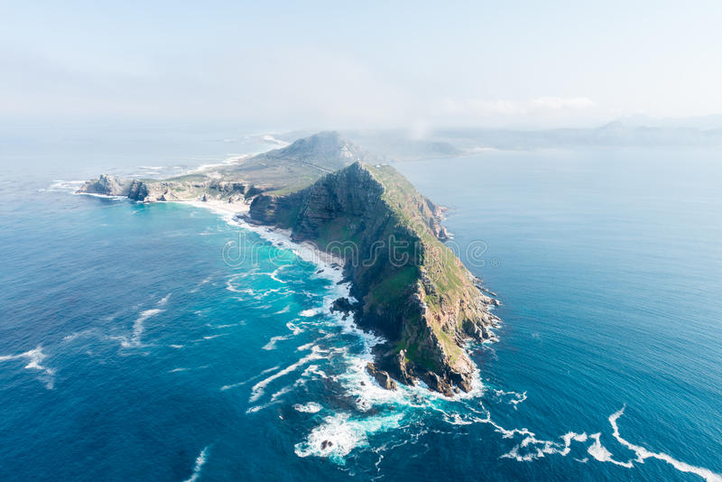 Εναέρια άποψη της Νότιας Αφρικής σημείου ακρωτηρίων στοκ φωτογραφία με δικαίωμα ελεύθερης χρήσης