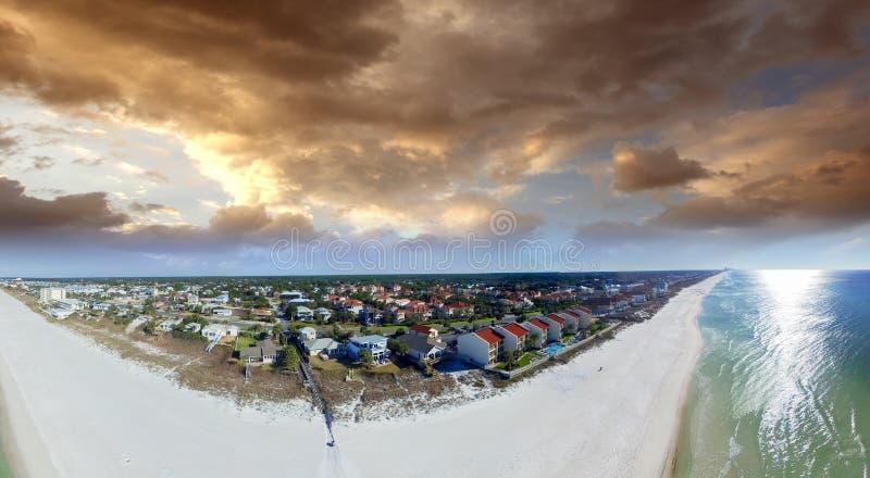 Εναέρια άποψη της παραλίας πόλεων του Παναμά - Φλώριδα, ΗΠΑ στοκ εικόνα