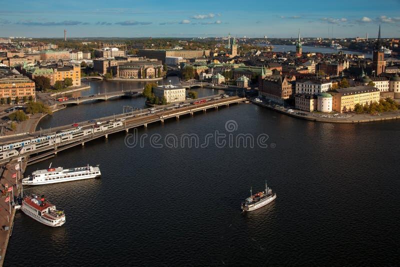 Εναέρια άποψη της παλαιάς πόλης Gamla Stan της Στοκχόλμης, Σουηδία στοκ εικόνα με δικαίωμα ελεύθερης χρήσης