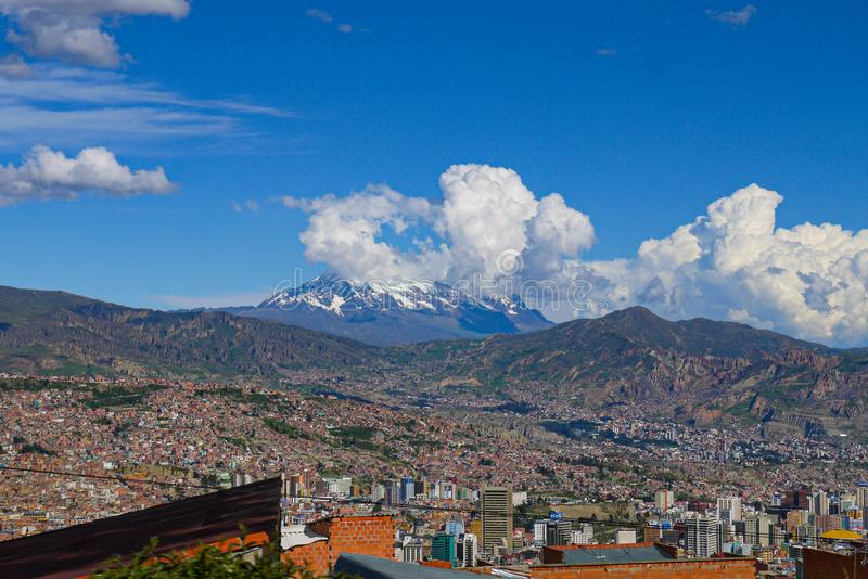 Εναέρια άποψη της πόλης Λα Παζ στη Βολιβία στοκ εικόνες με δικαίωμα ελεύθερης χρήσης