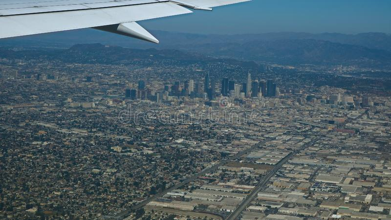 Εναέρια άποψη της πόλης του Λος Άντζελες στοκ φωτογραφίες με δικαίωμα ελεύθερης χρήσης
