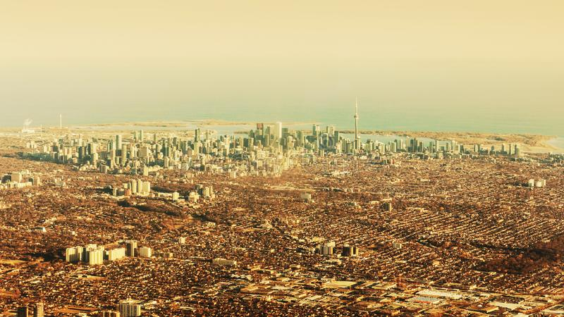 Εναέρια άποψη της πόλης του Τορόντου στοκ φωτογραφία με δικαίωμα ελεύθερης χρήσης