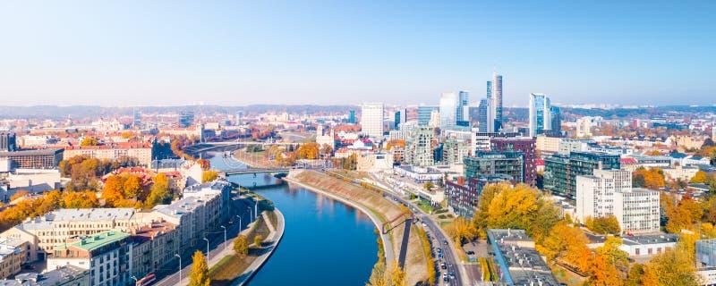 Εναέρια άποψη της πόλης Vilnius, Λιθουανία στοκ εικόνα με δικαίωμα ελεύθερης χρήσης