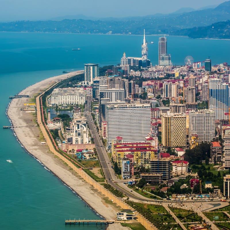 Εναέρια άποψη της πόλης στην ακτή Μαύρης Θάλασσας, Batumi, Γεωργία στοκ φωτογραφία με δικαίωμα ελεύθερης χρήσης