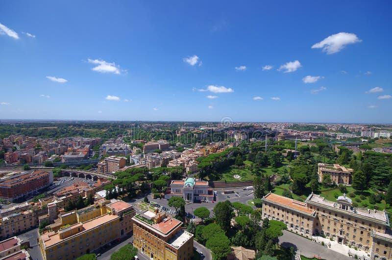 Εναέρια άποψη της πόλης του Βατικανού και της Ρώμης στοκ εικόνες