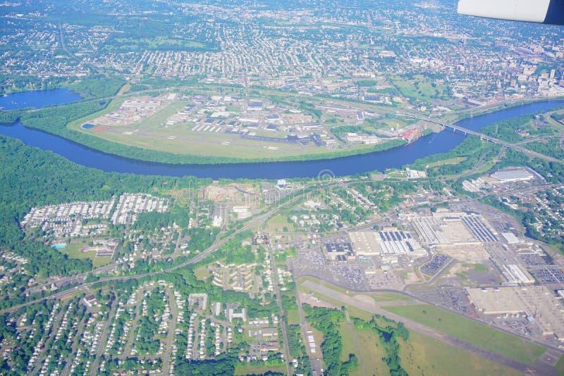 Εναέρια άποψη της πόλης του Χάρτφορντ στοκ εικόνες με δικαίωμα ελεύθερης χρήσης