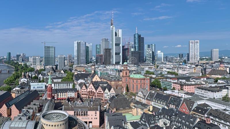 Εναέρια άποψη της Φρανκφούρτης Αμ Μάιν, Γερμανία στοκ φωτογραφία με δικαίωμα ελεύθερης χρήσης