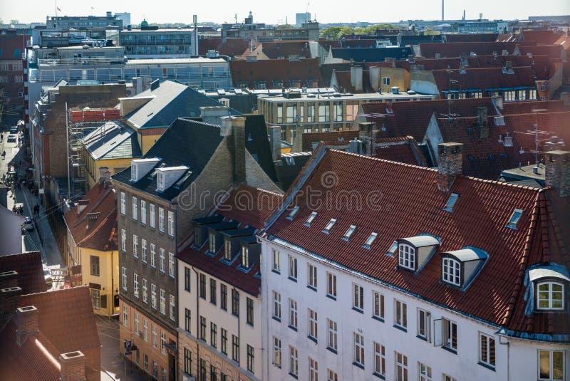 εναέρια άποψη της όμορφης αρχιτεκτονικής της Κοπεγχάγης, Δανία στοκ φωτογραφία