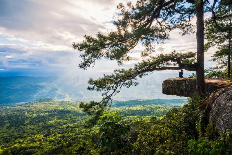 Εναέρια άποψη, τοπίο από την κορυφή του βουνού στοκ εικόνα με δικαίωμα ελεύθερης χρήσης