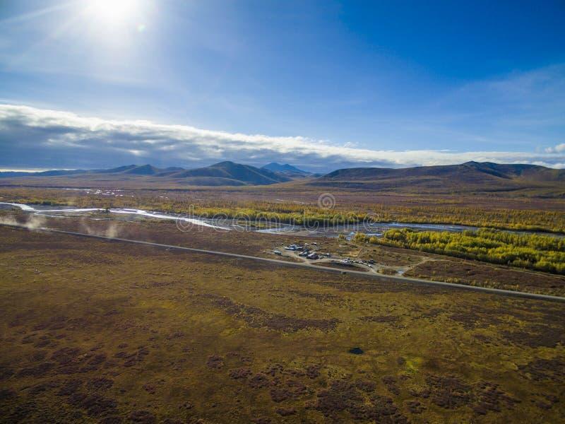 Εναέρια άποψη του δάσους στην Άπω Ανατολή, Ρωσία στοκ εικόνα