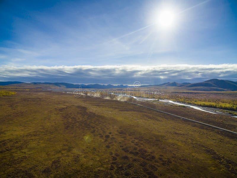 Εναέρια άποψη του δάσους στην Άπω Ανατολή, Ρωσία στοκ φωτογραφία με δικαίωμα ελεύθερης χρήσης
